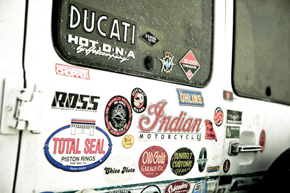 Shinya Kimura's van at Bonneville Salt Flats.