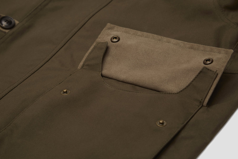 Storm guards on the main pocket flap keep the weather out and contents dry.