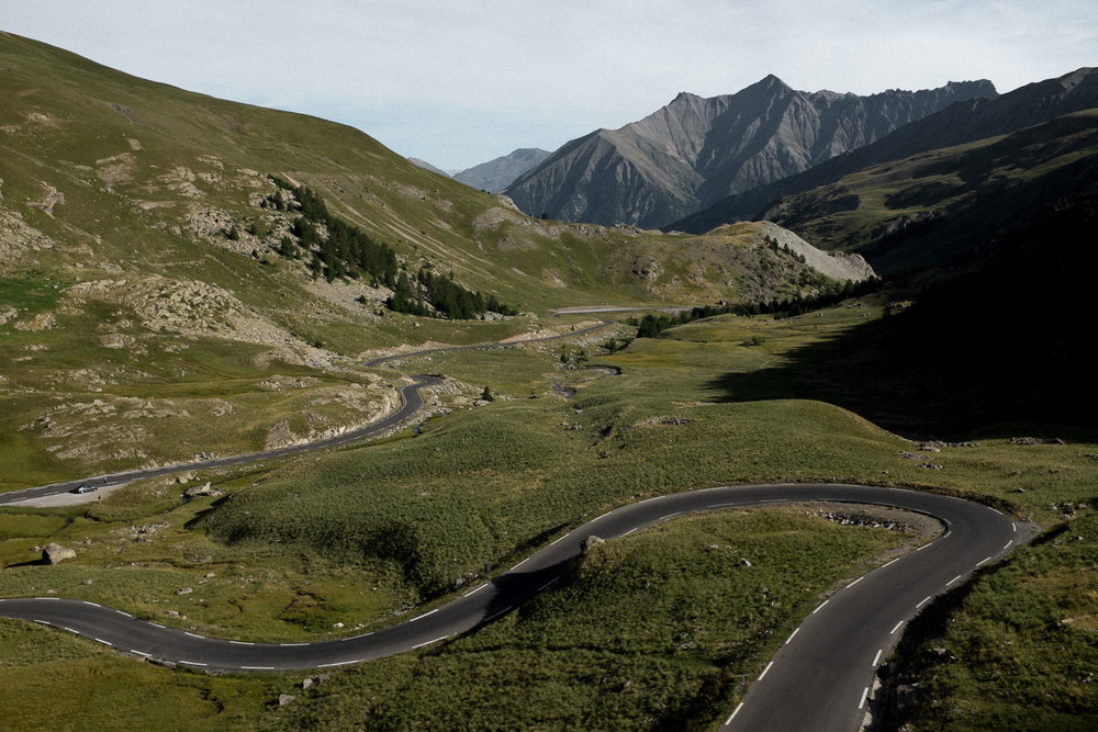 An image of the Col de Bonnette in the French Alps