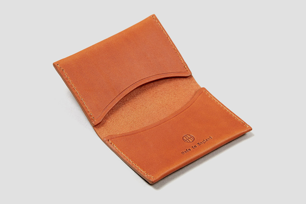 Made in out London workshop, the Hythe Card Holder is designed to hold between four to six cards.