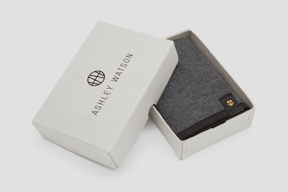 Each Orkney Baffle comes in a hand-stitched box made from a recycled board.