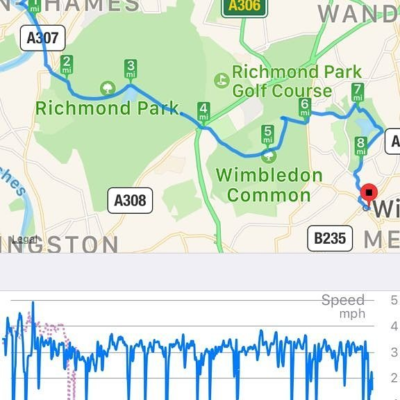2nd section of the Capital Ring completed. #Richmond to #Wimbledon Park.