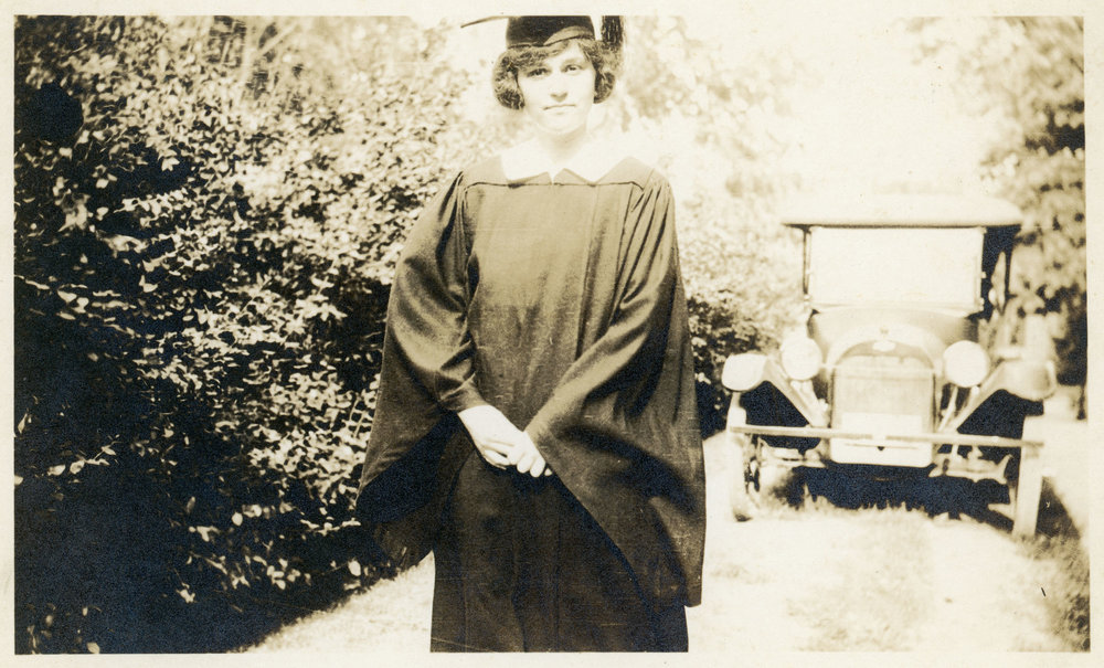 Levanche Lutes Abercrombie, circa 1915, after graduating from college.