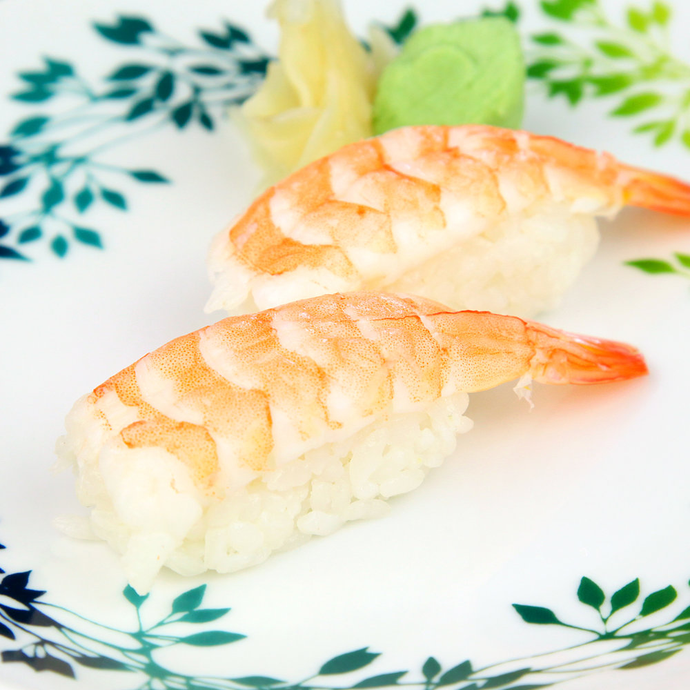 RED PRAWN SUSHI - 2 PCS @ £4