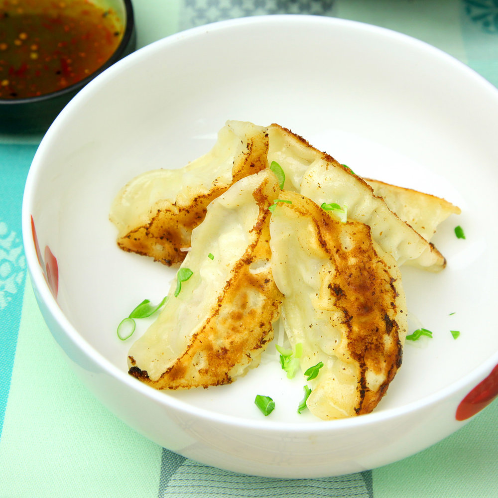 GYOZAS (CHICKEN OR VEGETABLES) - 5 PCS @ £5