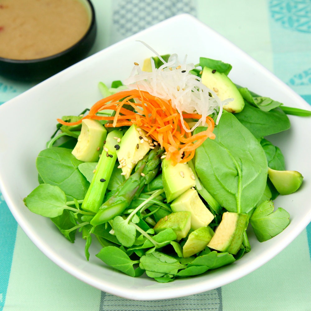 SALAD WITH AVOCADO & ASPARAGUS - @ £4.80