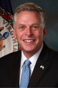 TERRY MCAULIFFE   Governor  Commonwealth of Virginia  (confirmed)