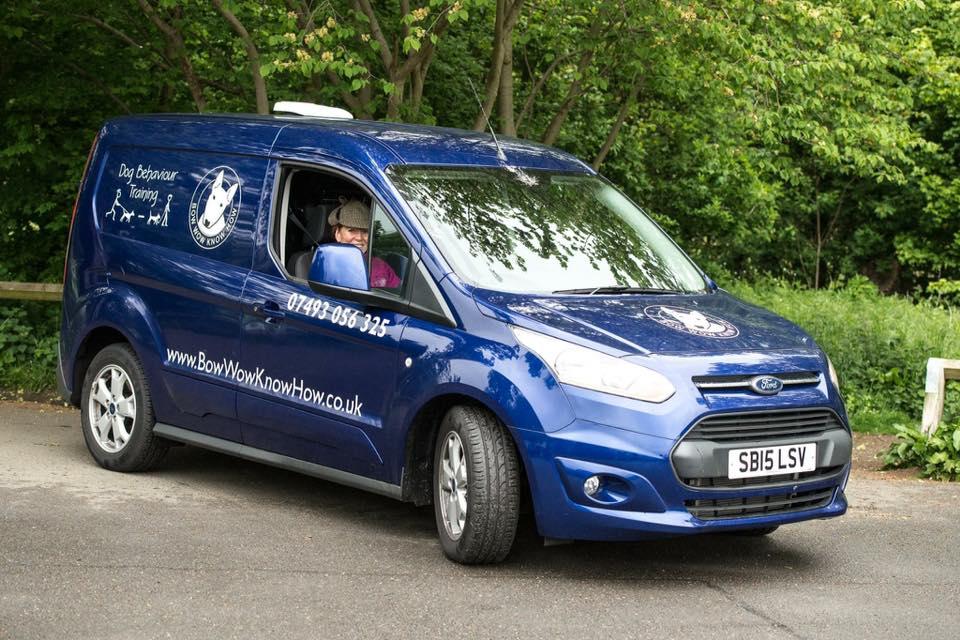Dog Behaviour Training - Blue company van