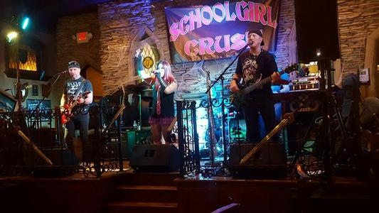 Schoolgirl Crush performs with a ProShow mobile system