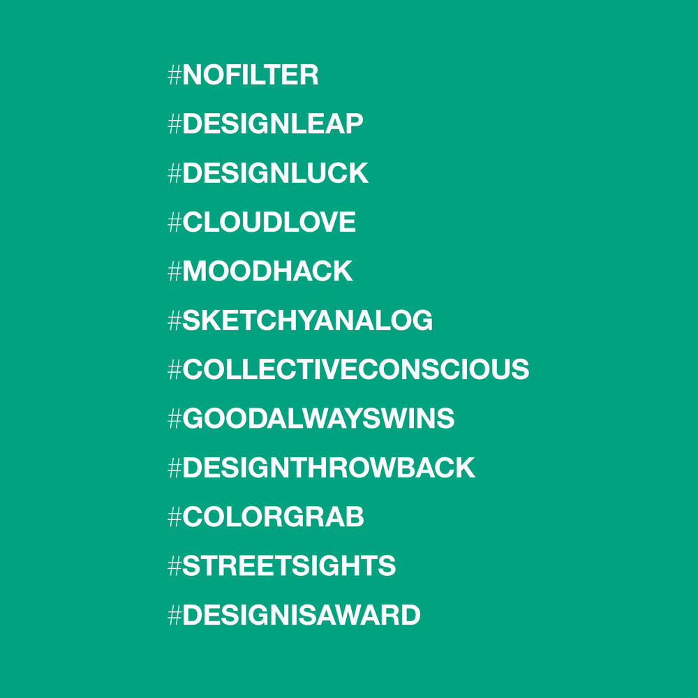 Design Leap Monthly Hashtags