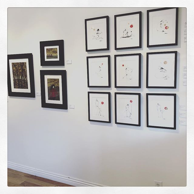 The hanging is complete! See you at Kate Moriarty Fine Art this Saturday 5-9. Wine and art. Perfect.