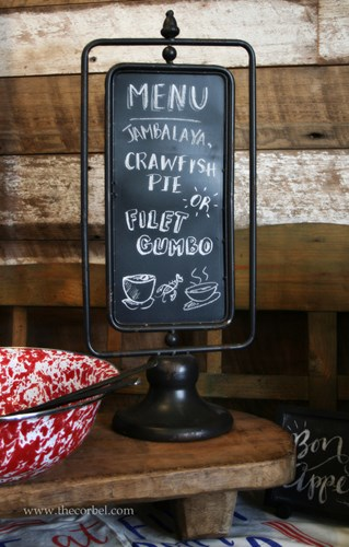 rotating chalkboard menu