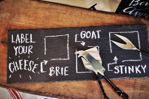 slate chalkboard cheeseboard