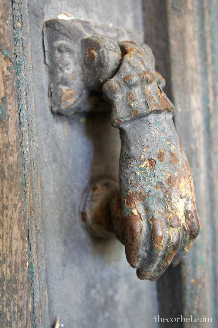 antique hand door knocker