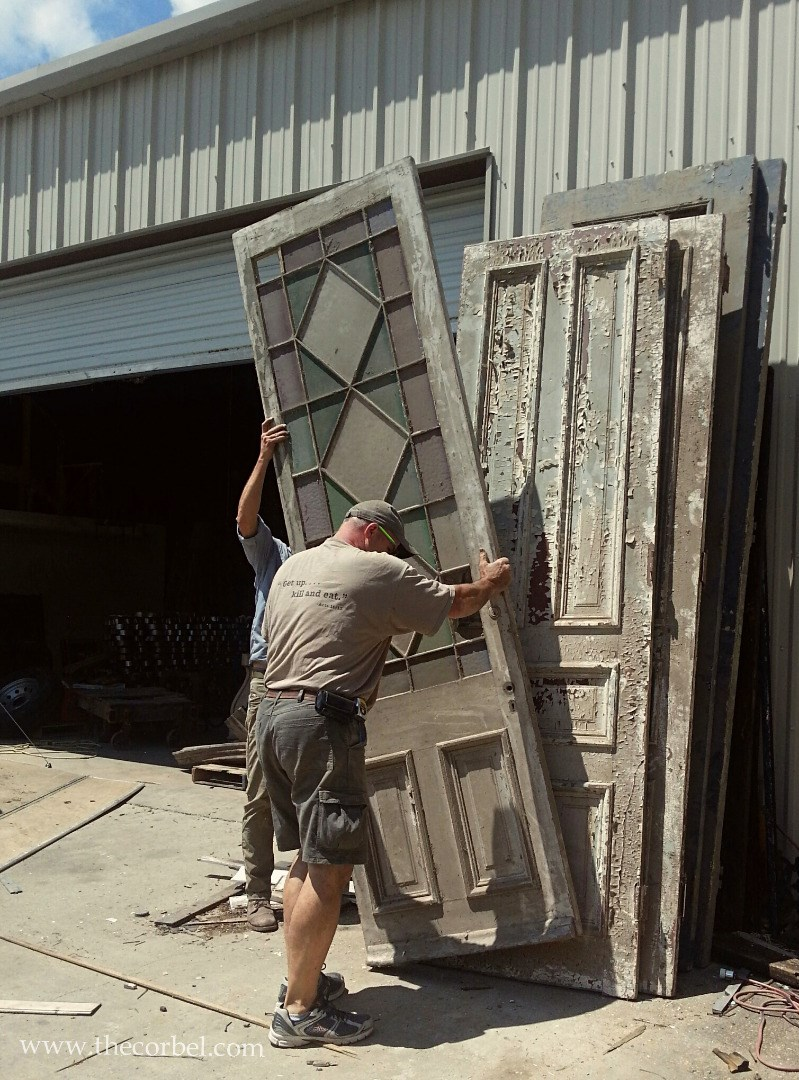 Campbell mansion salvage doors