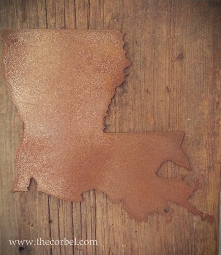 rusted louisiana sign decor