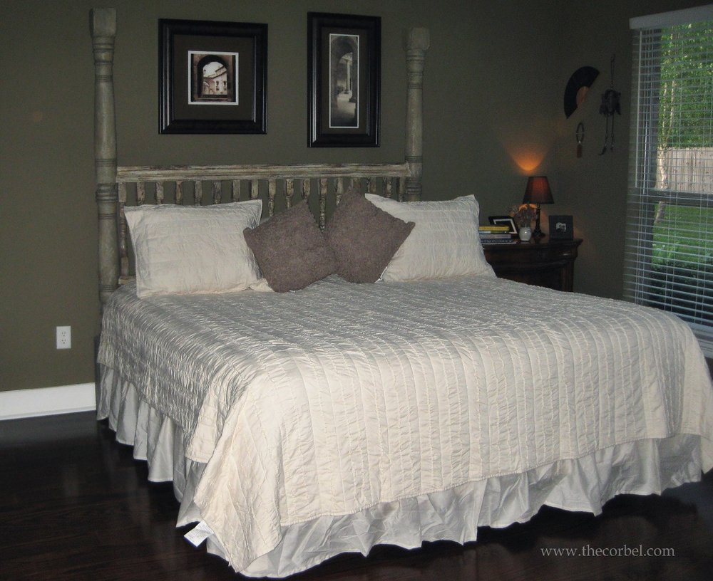 custom banister bed