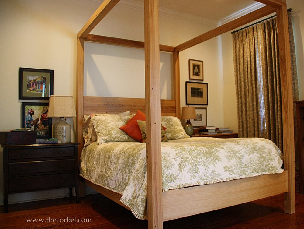 custom four poster bed
