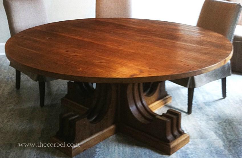 antique corbels custom table