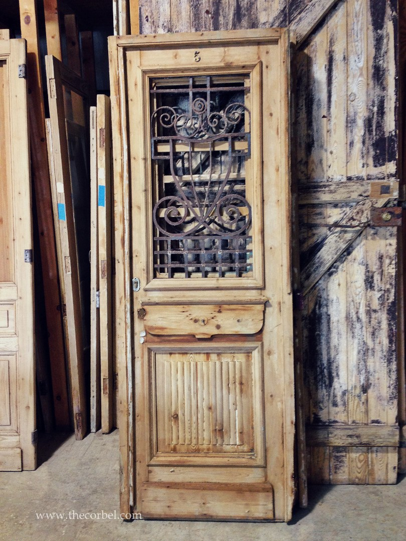 antique iron door