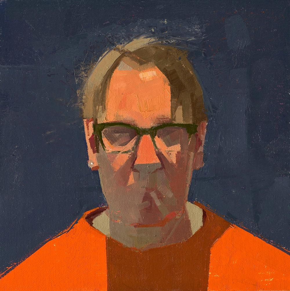 Self Portrait with Orange Shirt