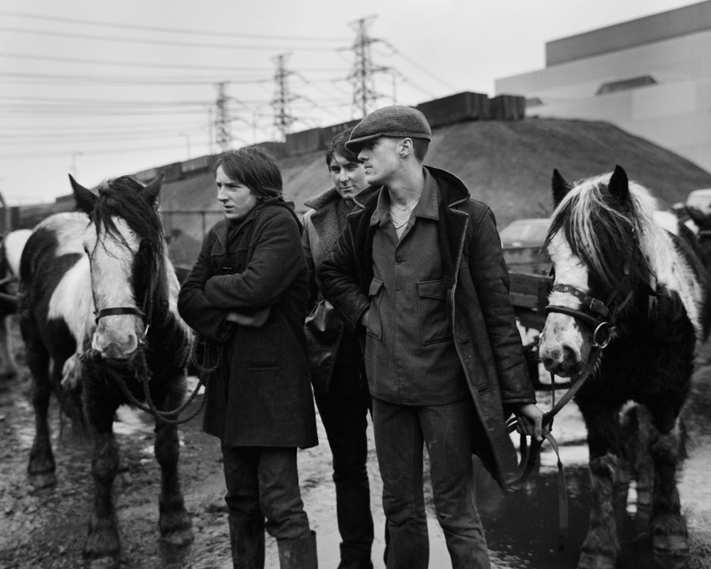 Lynemouth - Three Seacoal men and their horses