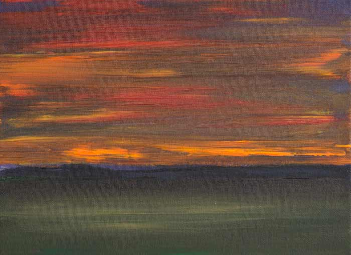 Glorious Sunset 9x12