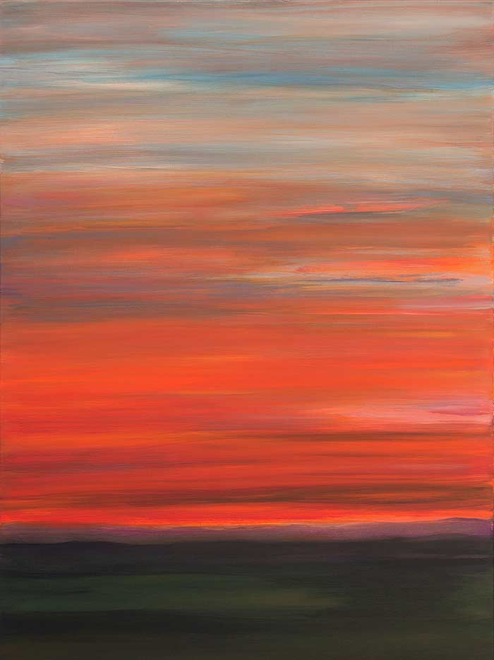 Looking West- Summer Sun Burns 40x30