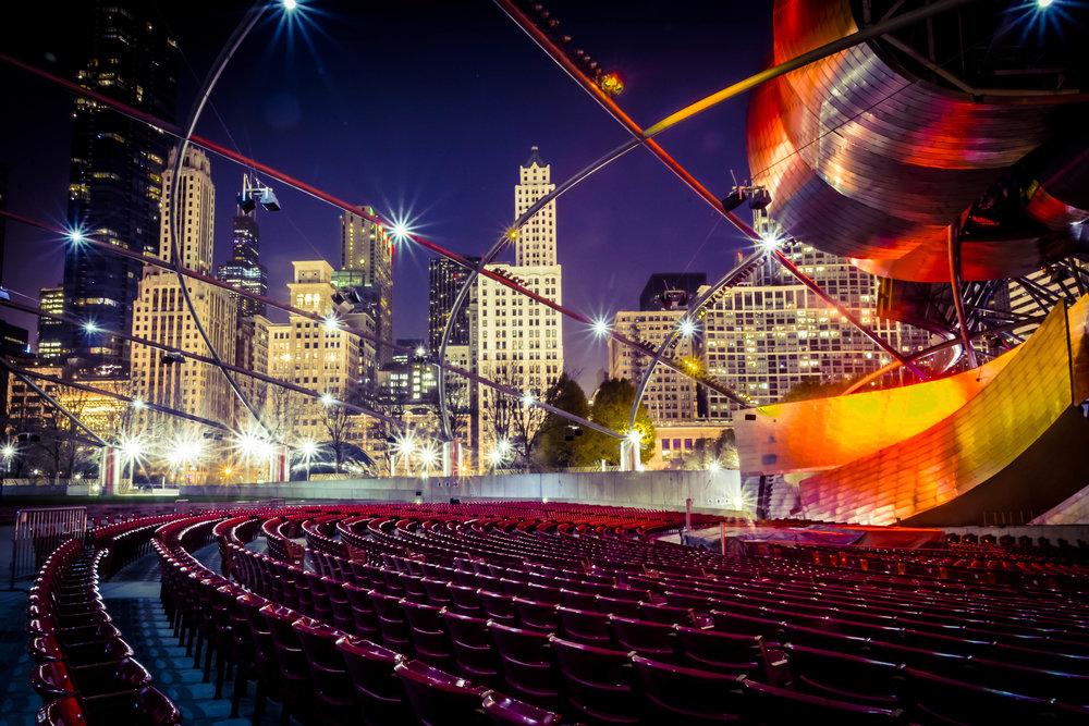 Chicago after dark sparkles.