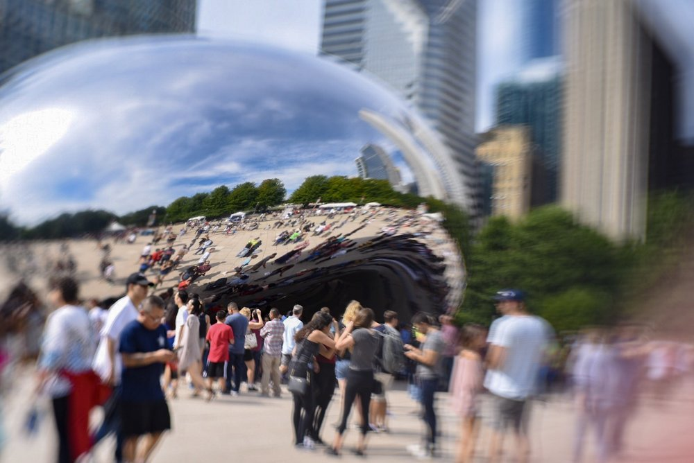 "You cannot go to Chicago and not take the obligatory ""Bean"" shot. It's fun, it's weird, it's iconic, and it's the best place to people watch."