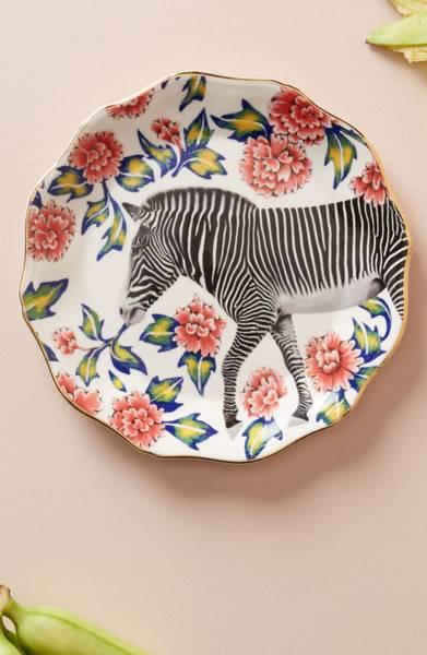 Zebra Dessert Plate