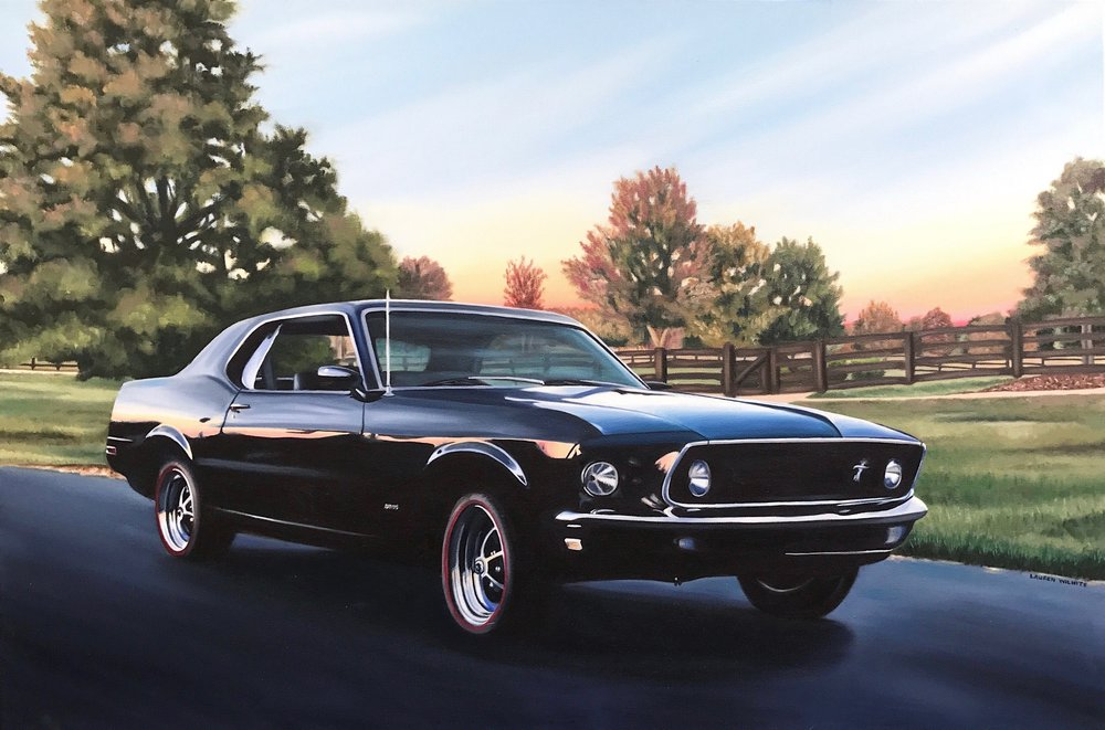 "Mustang, 36""x24"", Oil Paint on Canvas, 2017"
