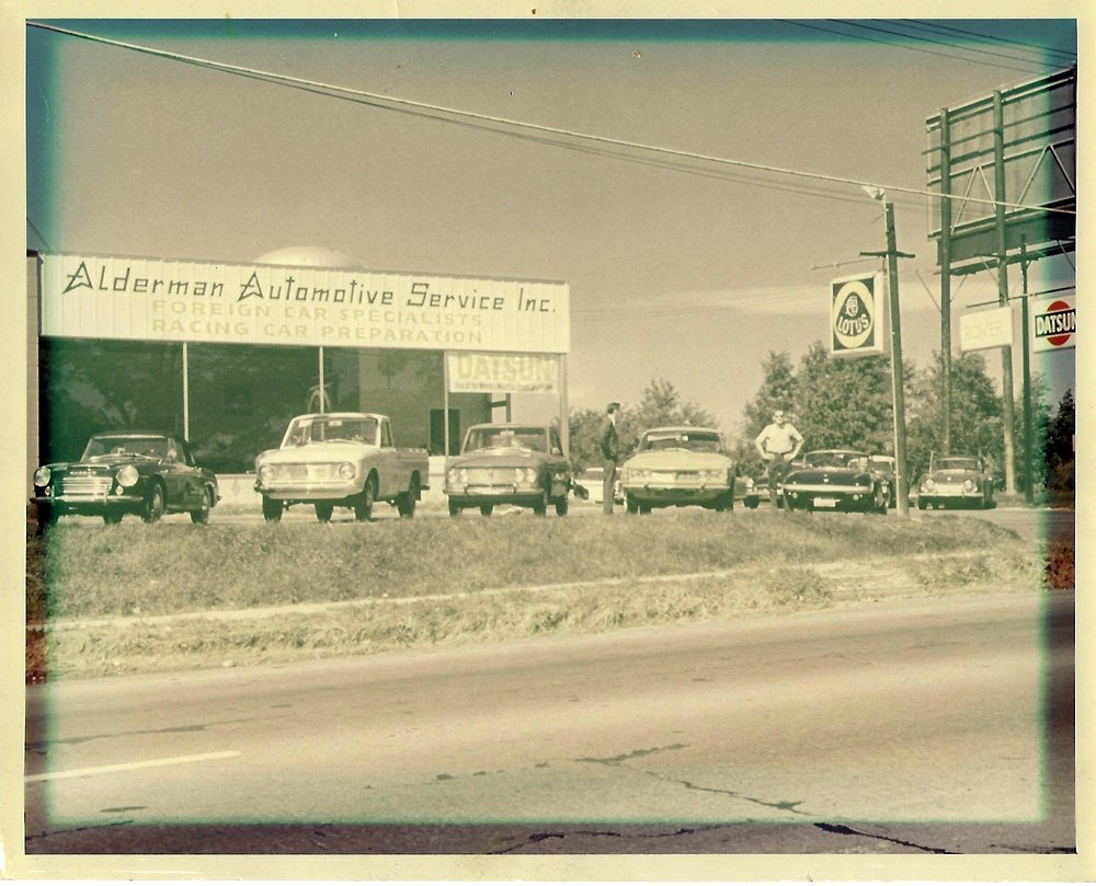 1967: The current Alderman Automotive Machine building originally was the Parts, Sales, and Service building of the Alderman Datsun dealership