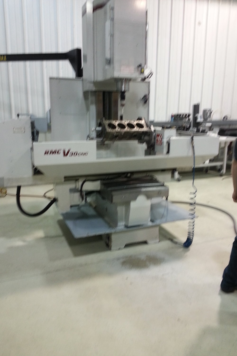 Photo of the machine in the Michigan facility where they went to train.
