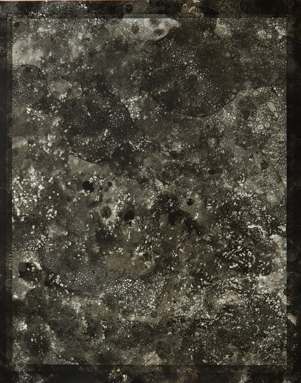 Ocean Abstraction 5.26.2016, Unique Silver Gelatin Print, 14 x 11 inches