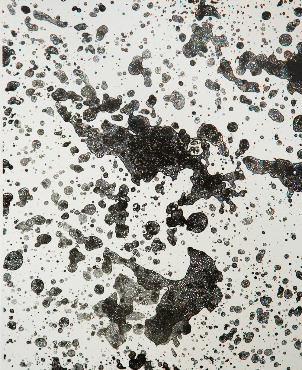 Ocean Abstraction 7.12.2016, Unique Silver Gelatin Print, 14 x 11 inches