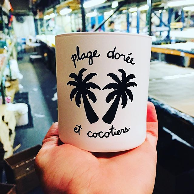 Because it's always summer 🌴 🏝 ☀️🍦 #coming soon #resort #candles #nongmo #moisturizingcandle #coconut #beachvibes #summervibes #grasse #parfum #factory