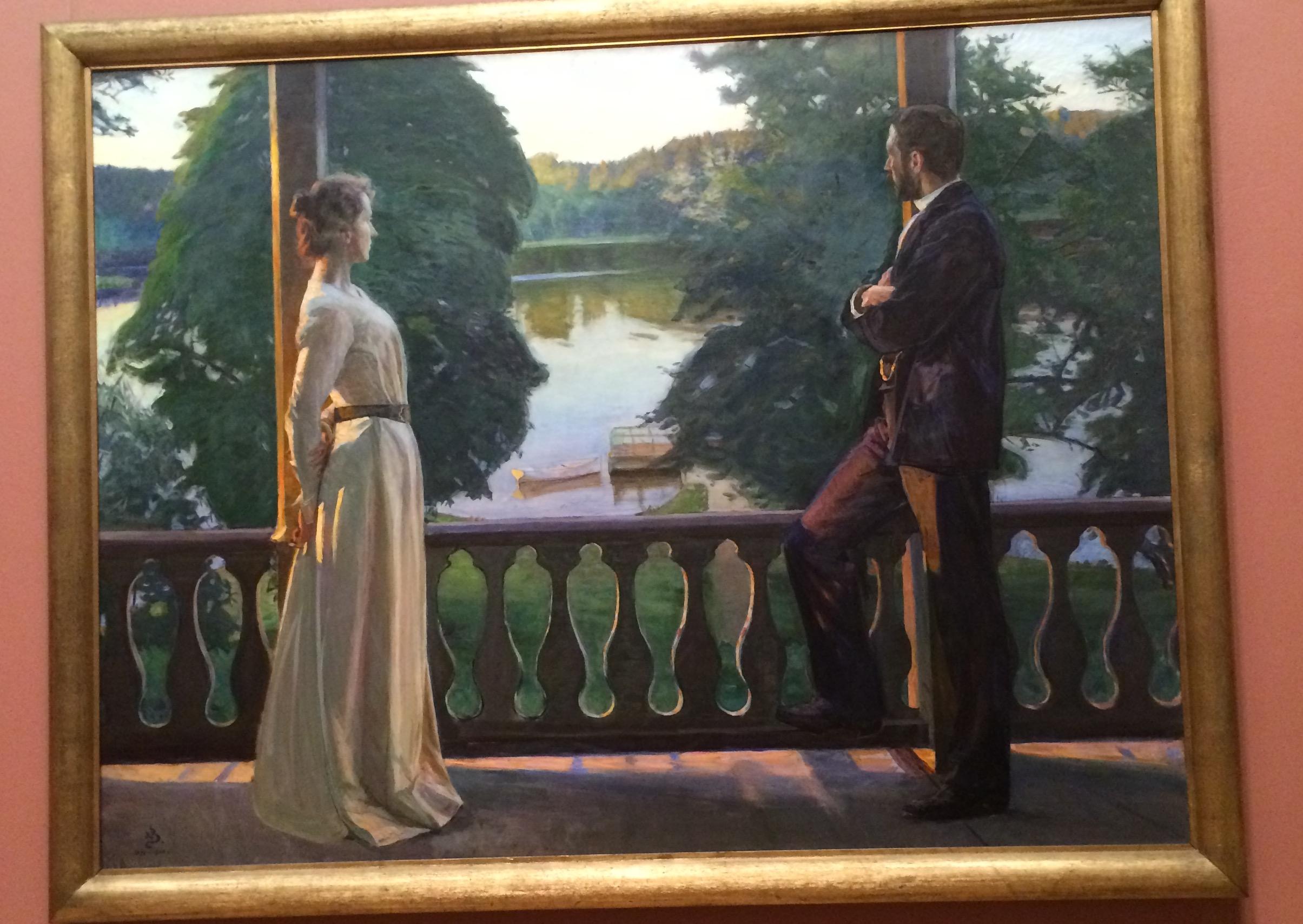 哥德堡男人和女人绘画