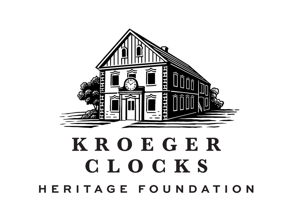 The Kroeger Clocks Heritage Foundation logo is based on the original  Kroeger Clock and Motor Works factory , circa 1910.