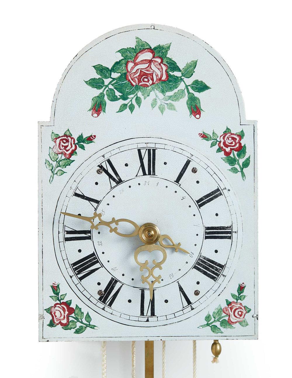 Hildebrand Clock no. 334, 1871. Mennonite Heritage Village 2013.8.1 (MC0223)