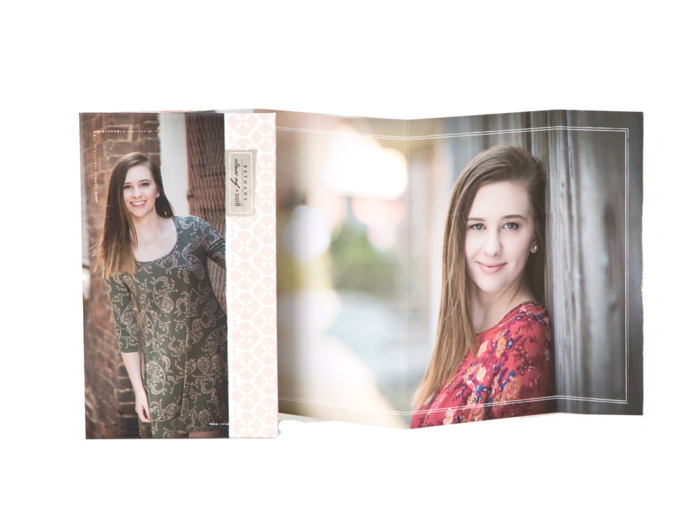 Accordian Books - With (7) customized panels and a custom cover, these are ideal to showcase your images!$499