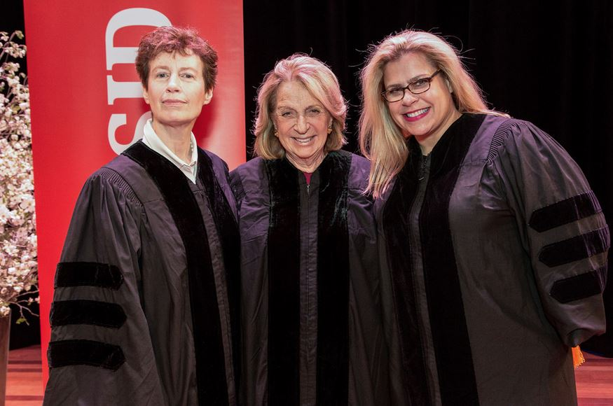 Honorary doctorate degrees were presented to Alexa Hampton;  Wendy Goodman , design editor at  New York Magazine , and  Daisy Soros , NYSID alumna and philanthropist.