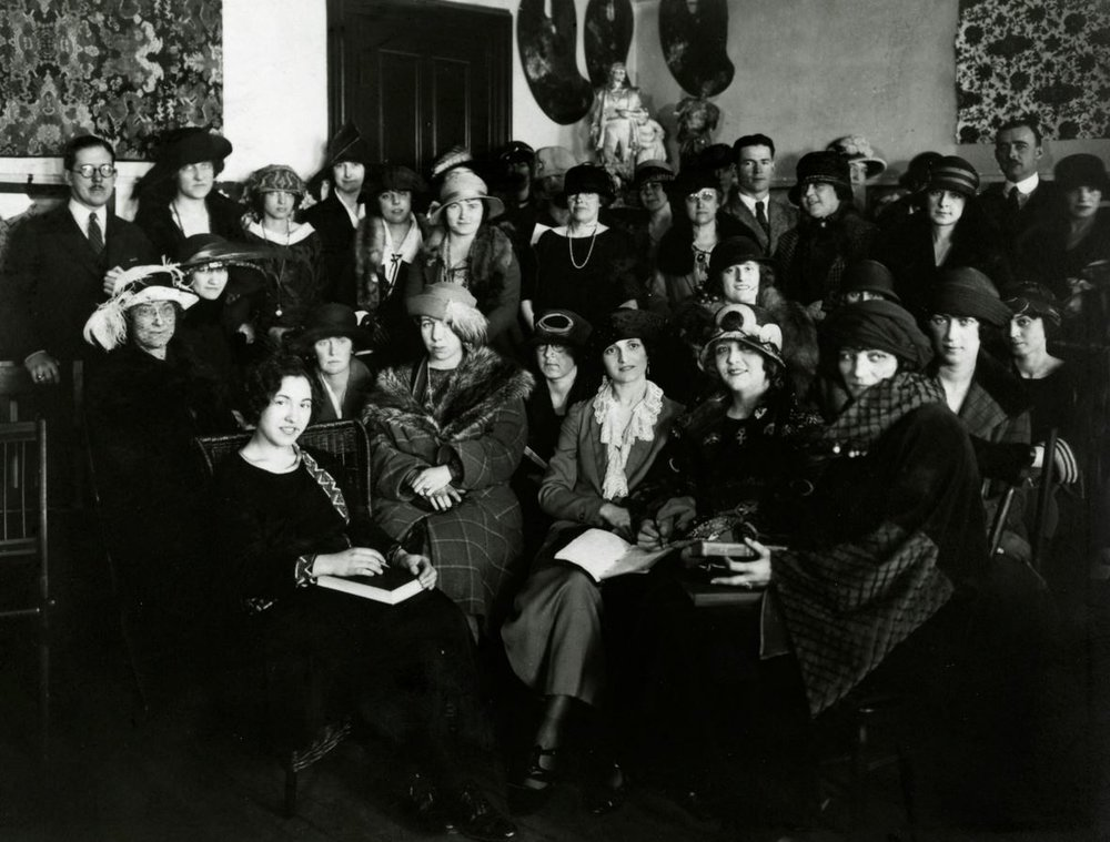 """NYSID Class of 1923: The 1928 NYSID Bulletin details exciting news and events from the school's commencement celebrations including the """"most successful alumni luncheon yet,"""" which took place at NYC's Biltmore Hotel in the spring of 1928 with over 150 NYSID graduates in attendance. Faculty member  Lucy Taylor  gave a speech, in which she assured graduates, """"the taste of the public is rapidly improving and the demand for decorators is far surpassing the supply."""""""
