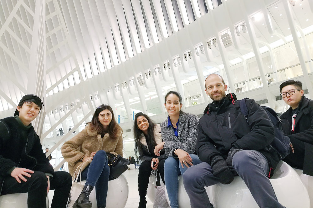 MPSL students at the Oculus transportation hub in NYC