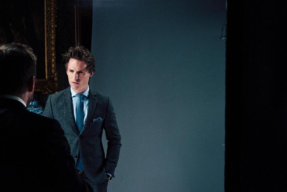 portrait photographer Tim Cole shoots Eddie Redmayne getting ready