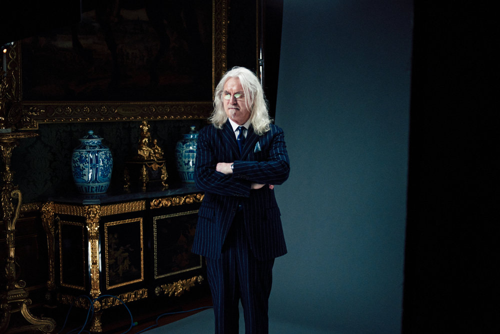 portrait photographer Tim Cole shoots Billy Connolly