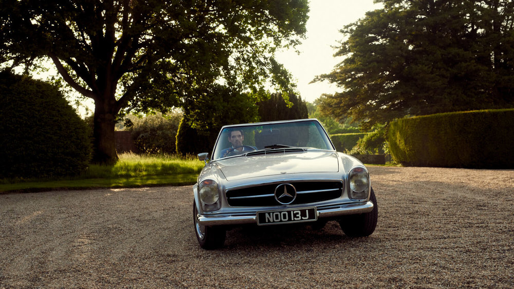 London lifestyle photographer Tim Cole shoots a Mercedes-Benz for Orient Watches