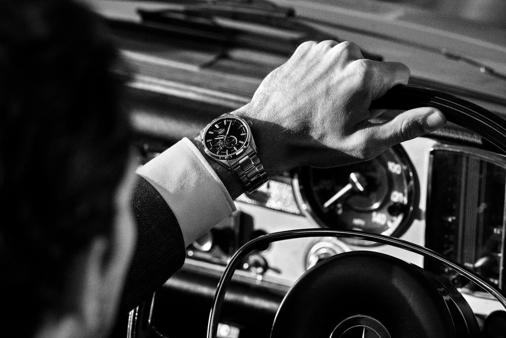 London lifestyle photographer Tim Cole shoots inside a Mercedes-Benz for Orient Watches