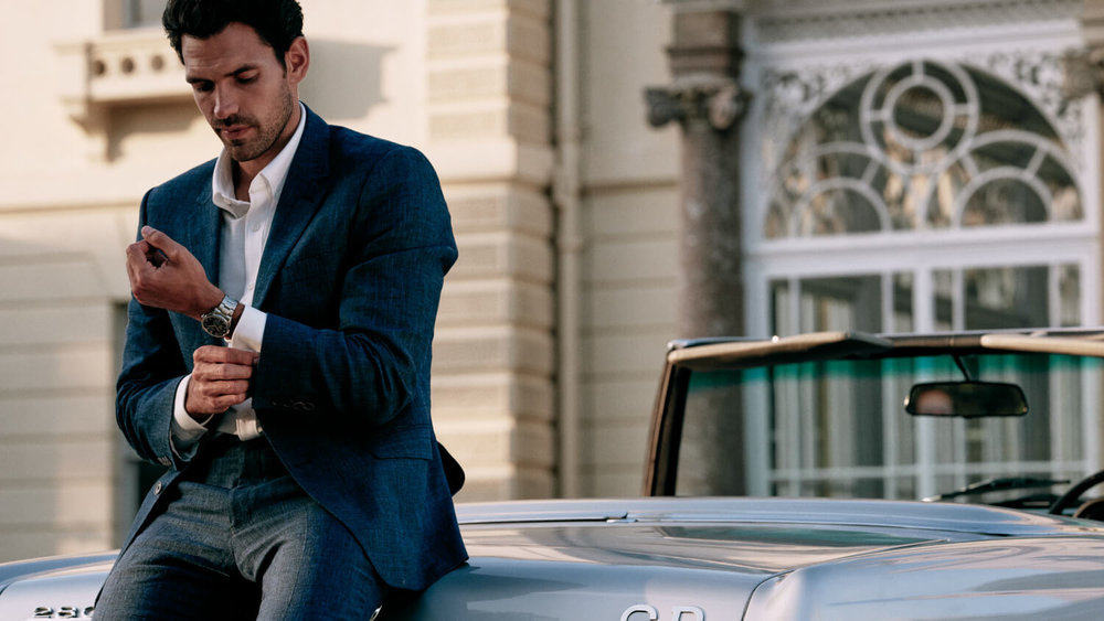 London lifestyle photographer Tim Cole shoots around a Mercedes-Benz for Orient Watches