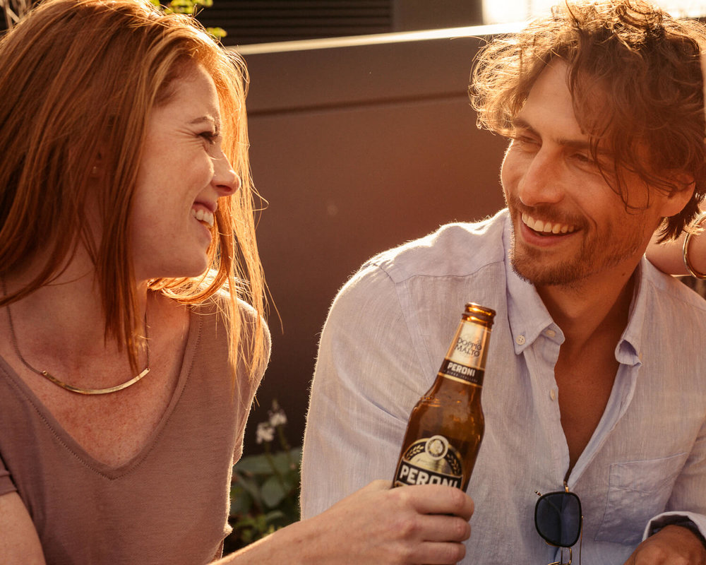 London lifestyle photographer Tim Cole shoots Peroni beer socialising